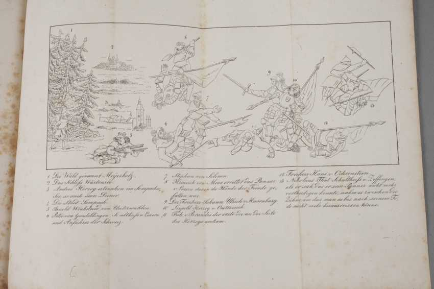 Panel Band Battle Chapel Of Sempach, 1843 - photo 4