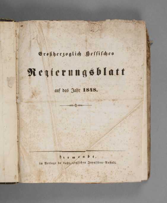 Government Sheet Hessen 1848 - photo 1