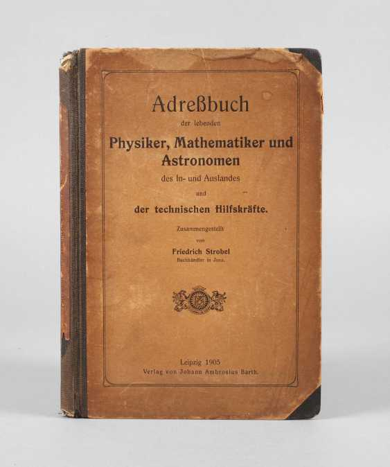 The address book of the physicist, mathematician - photo 1