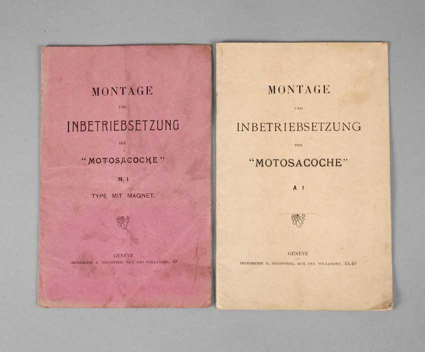 Two Operating Manuals Moto Sacoche - photo 1