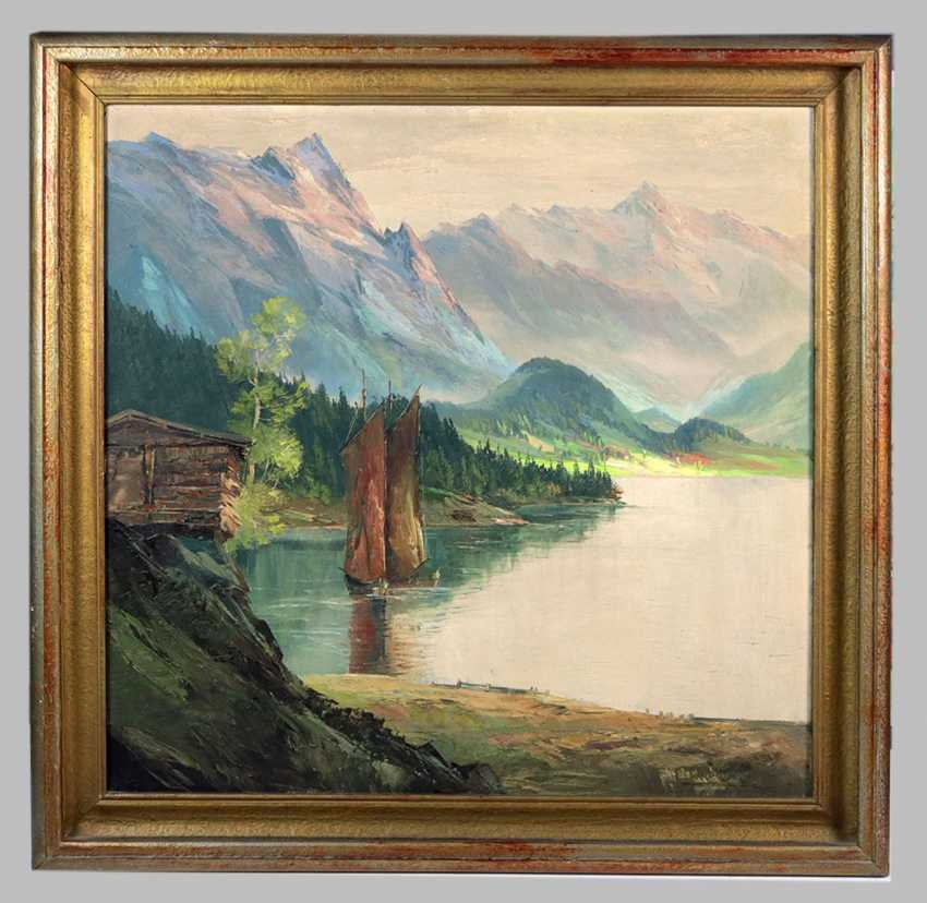Sailors on the Lake - Münnich, Heinz - photo 1