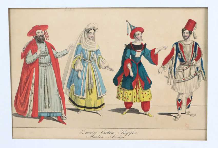 hand colored fashion engraving - photo 1