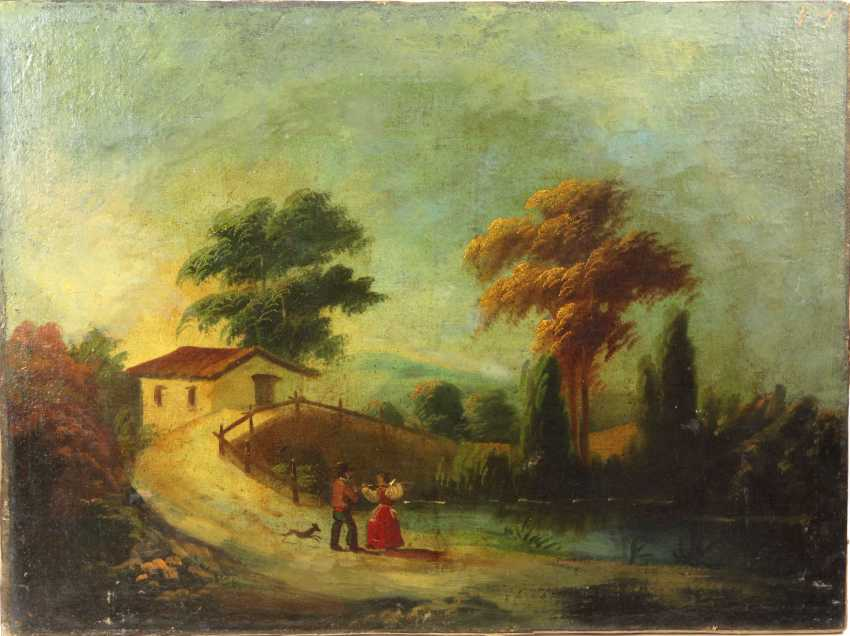Peasant couple on the pond - 19. Century - photo 1
