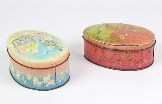 2 Easter Tin Cans - photo 2