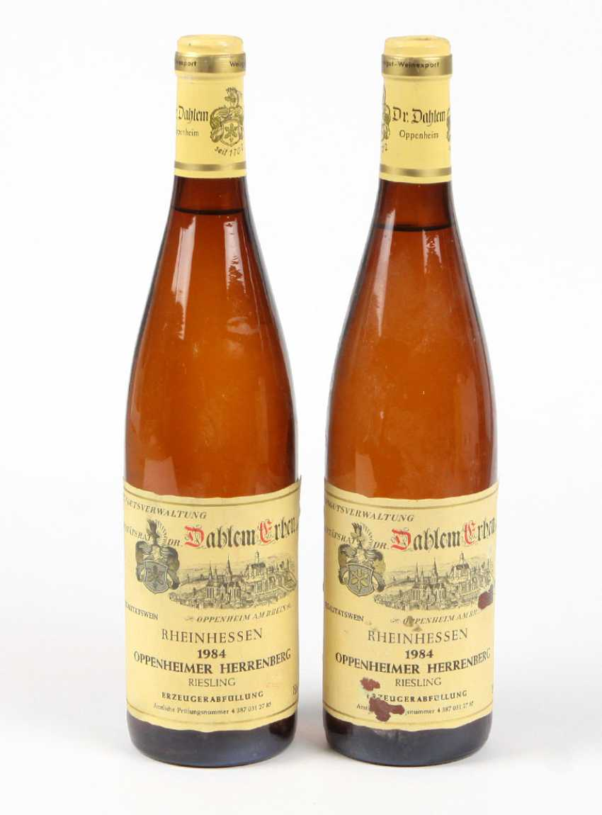 2 Wine Bottles Of Riesling In The 1984 White - photo 1