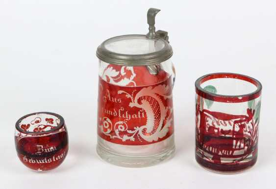 3 souvenir glasses in order to 1860 - photo 1