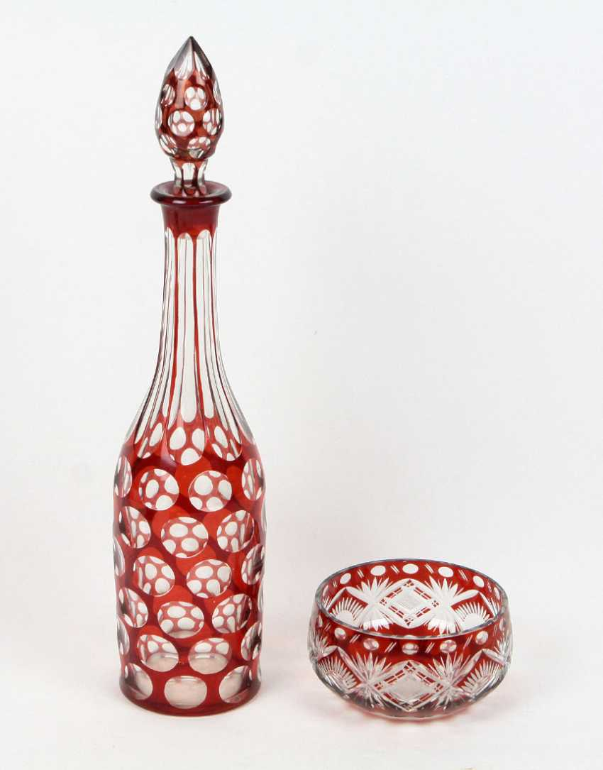 Crystal decanter and seafood - photo 1