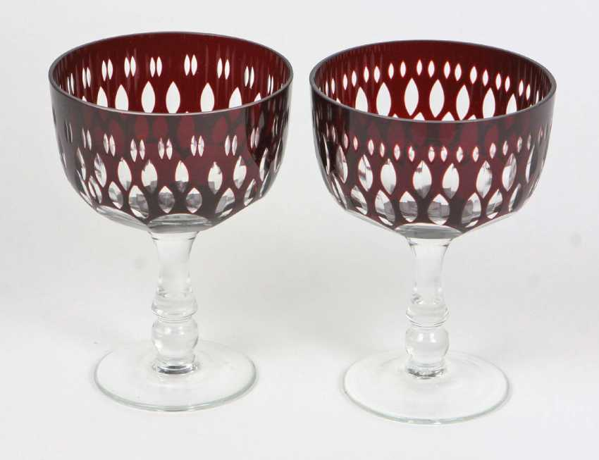 Ruby Goblet Pair - photo 1