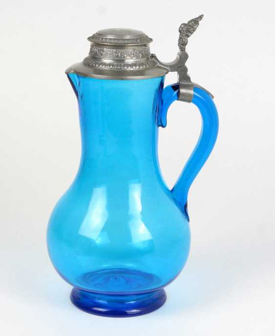 Schenk jug with pewter lid 1890 - photo 1