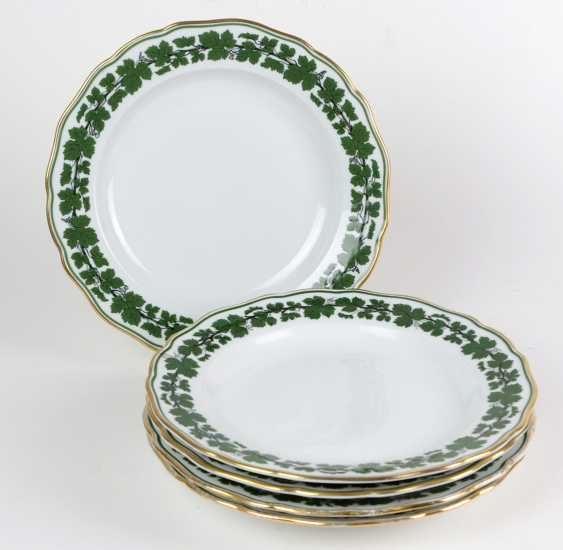 Meissen Set Of *Vine Leaves* Dinner Plate - photo 1