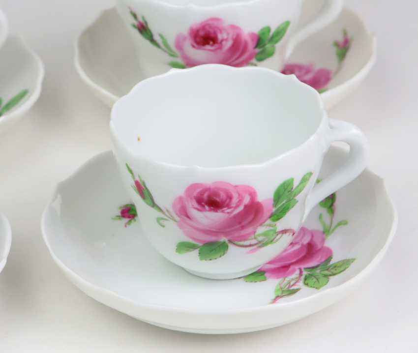 Meissen 6 Mokkagedecke *Rose Rouge* - photo 2