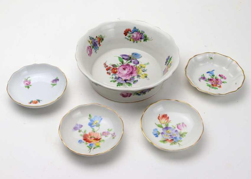 Potschappel 5 Bowls Floral Decor - photo 1