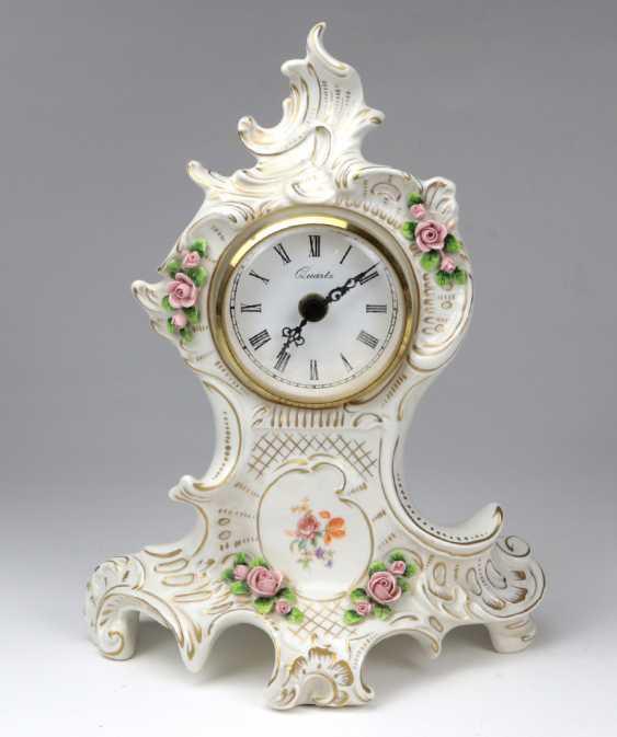 Porcelain Table Clock Baroque Form - photo 1