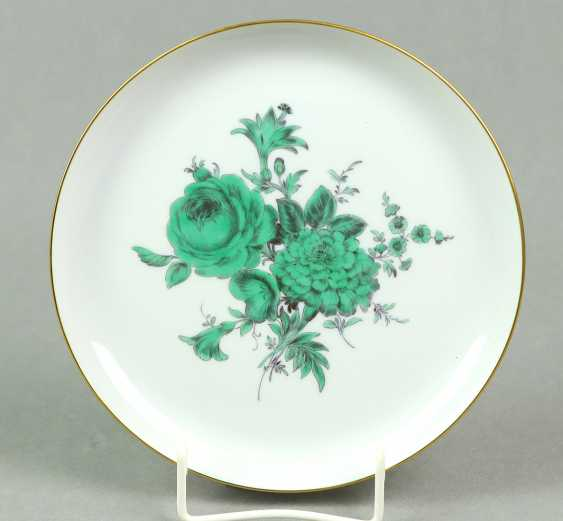 Meissen Wall Plate *Green Flower* - photo 1
