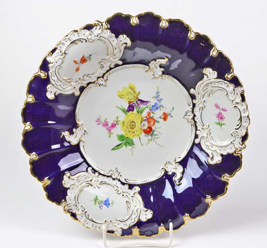 Meissen Cobalt Sumptuous Dish *Flower Bouquet* - photo 1