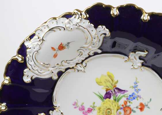 Meissen Cobalt Sumptuous Dish *Flower Bouquet* - photo 2