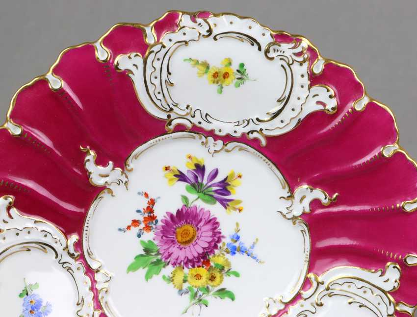 Meissen Purple Pomp Plate *Flower Bouquet* - photo 2