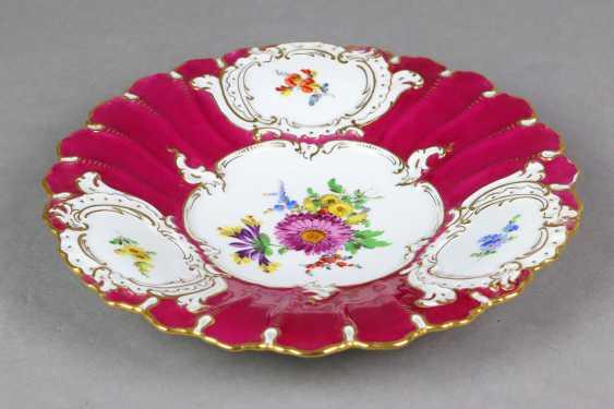 Meissen Purple Pomp Plate *Flower Bouquet* - photo 3