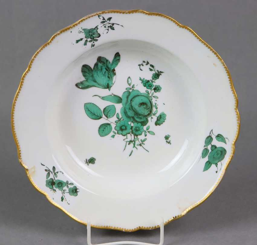 Meissen Soup Plate *Dresden Green* - photo 1