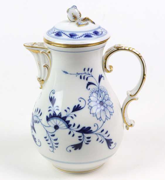 Meissen Coffee Pot *Vine Leaves* - photo 1