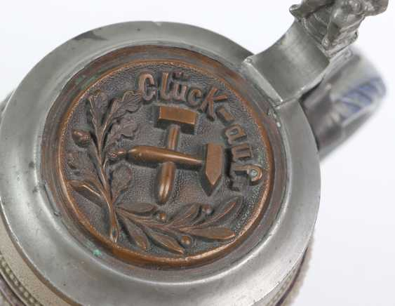 2 историзм кружки с оловянными крышками, около 1880 - фото 2