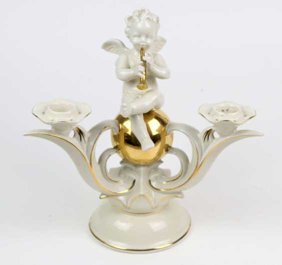 Candlestick with Putto on gold ball - photo 1
