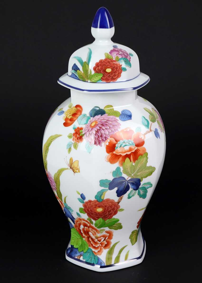 Lid Vase Indian Flowers Decor - photo 1