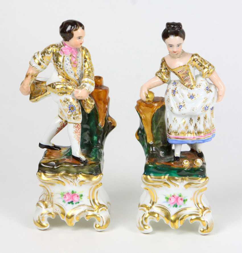 Biedermeier Pair Of Figures - photo 1