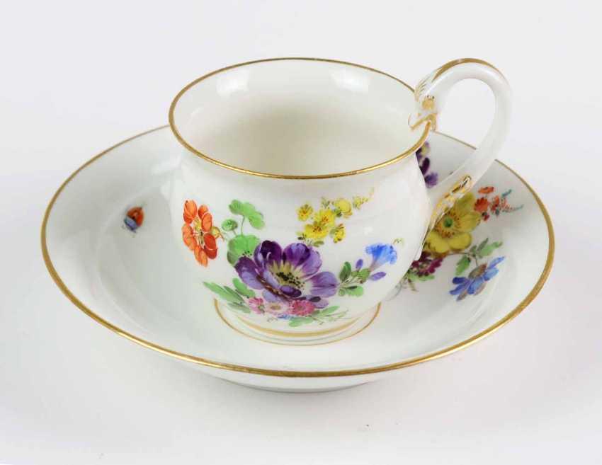 Meissen Swan Handle Table Setting *Flower Bouquet* - photo 1