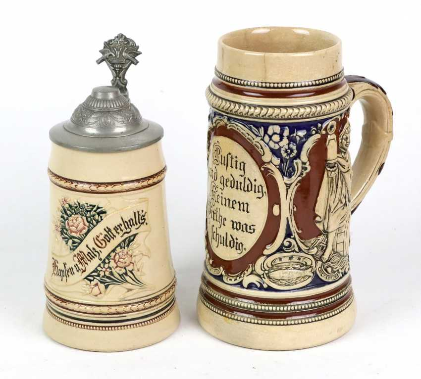 2 ceramic jugs around 1900 - photo 1