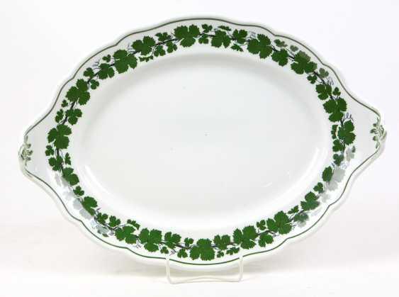 Meissen Vine Leaf Serving Plate Has A - photo 1