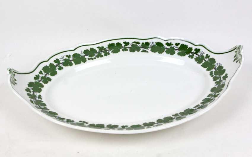 Meissen Vine Leaf Serving Plate Has A - photo 3