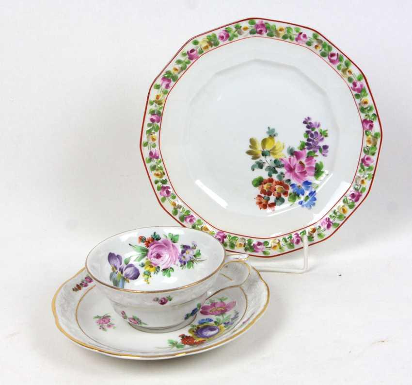 Potschappel relief plate & dish - photo 1
