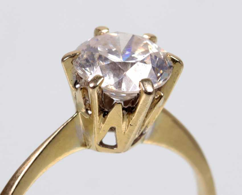 Ring brilliant solitaire of 1.25 ct white gold 750 - photo 2
