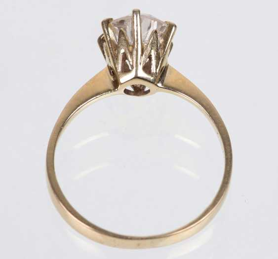 Ring brilliant solitaire of 1.25 ct white gold 750 - photo 3