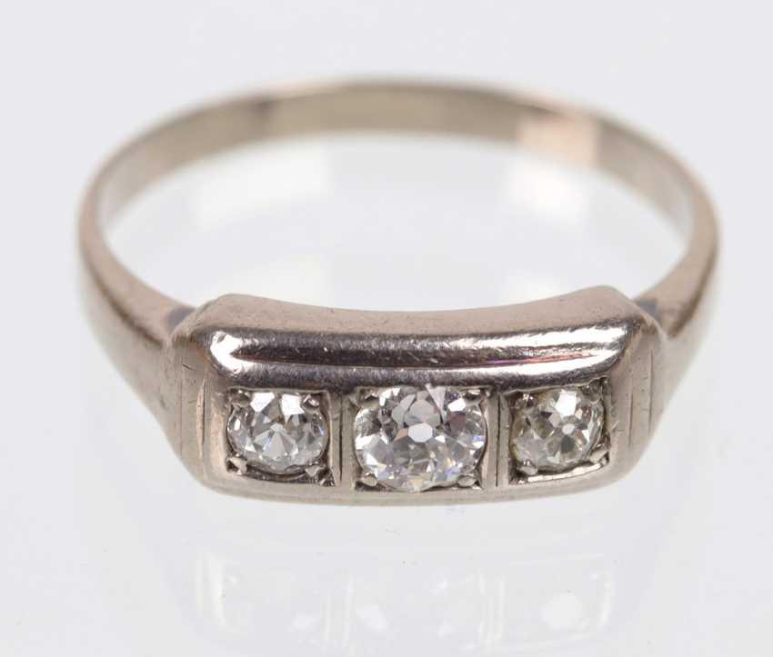 Diamond Ring - White Gold 585 - photo 1