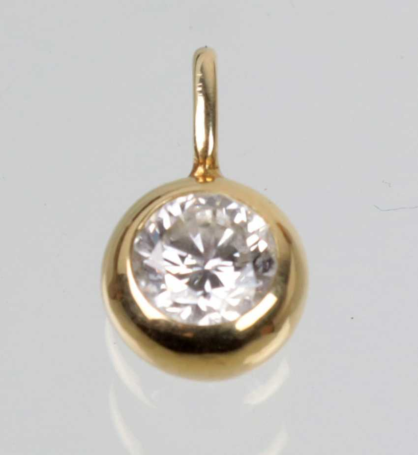 Trailers brilliant, 0.50 ct - yellow-gold 585 - photo 1