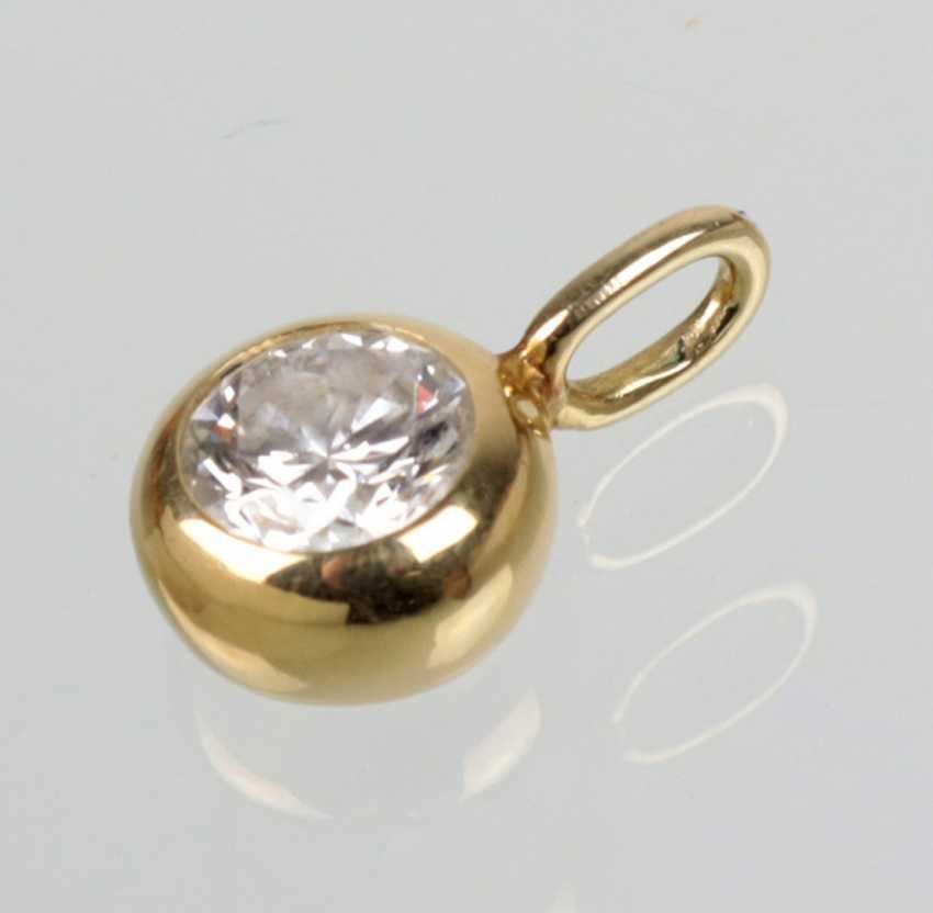 Trailers brilliant, 0.50 ct - yellow-gold 585 - photo 2