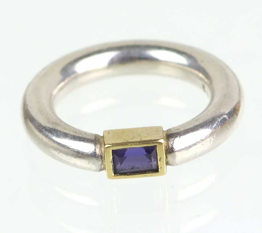 Iolite Ring 925 Silver - photo 1