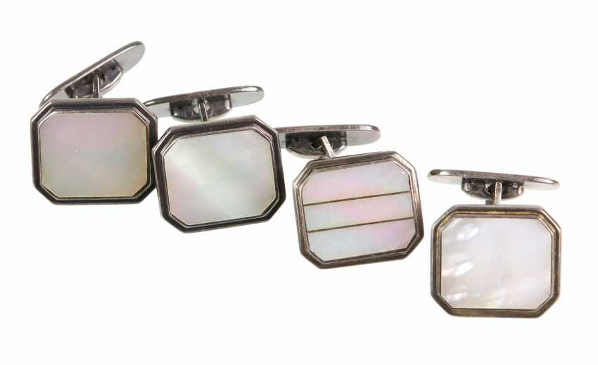4 Mother-Of-Pearl Cufflinks - photo 1