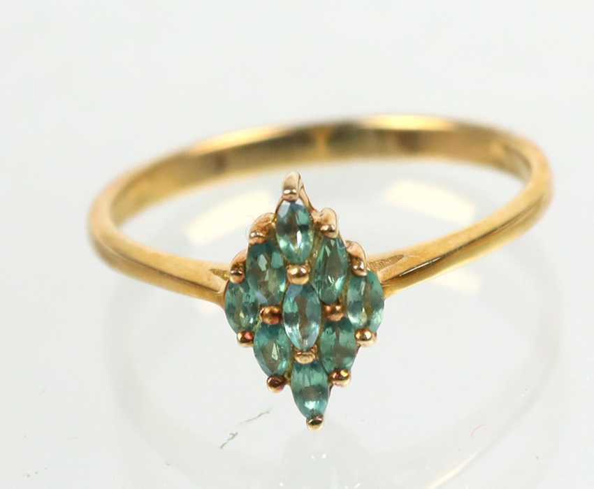 Alexandrit Ring - Gelbgold 375 - photo 1