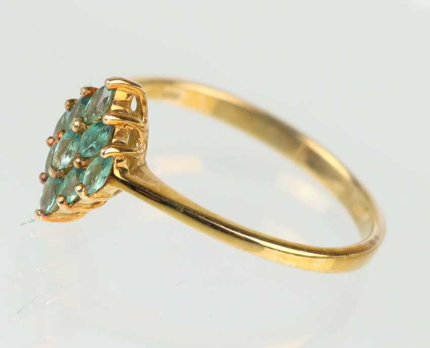 Alexandrit Ring - Gelbgold 375 - photo 2
