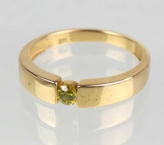 Ladies Ring with sphene - yellow gold 375 - photo 1