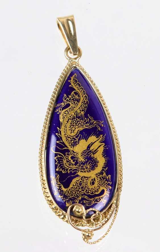 Meissen Lucky Dragon Gold Pendant - photo 1