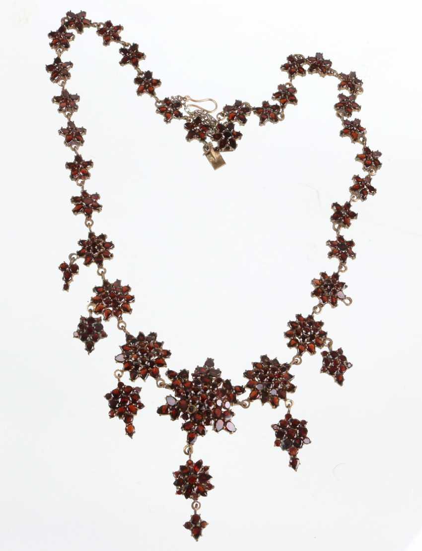 antique garnet necklace Bohemia around 1900 - photo 1