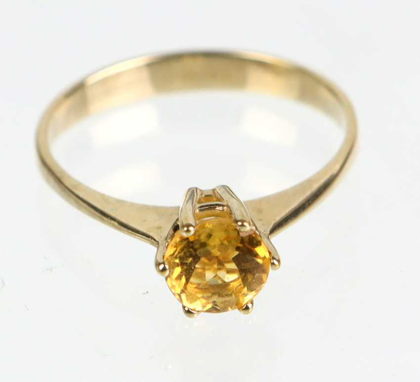 Ring with Spehn - yellow gold 375 - photo 1