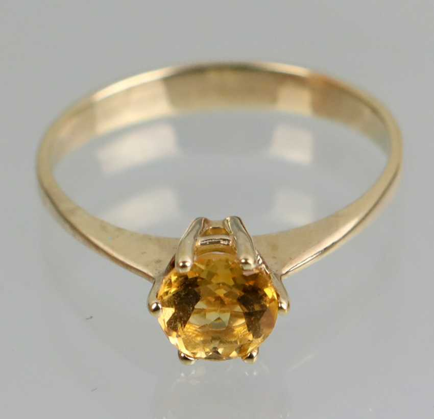Ring with Spehn - yellow gold 375 - photo 2