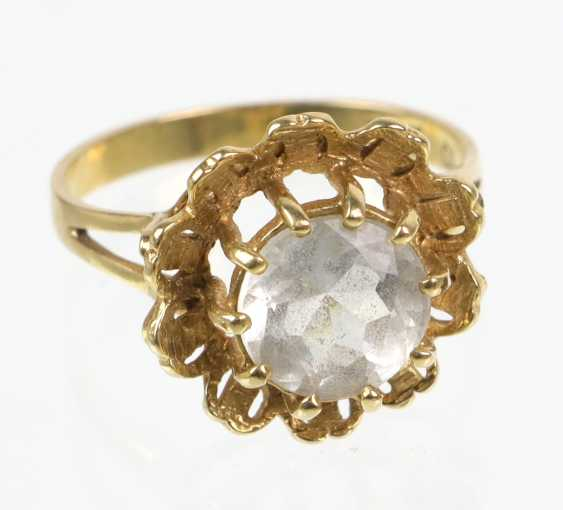 Rhinestone Ring - Yellow Gold 585 - photo 1