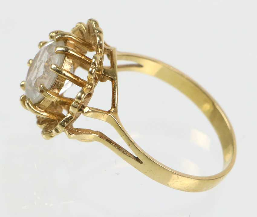 Rhinestone Ring - Yellow Gold 585 - photo 2