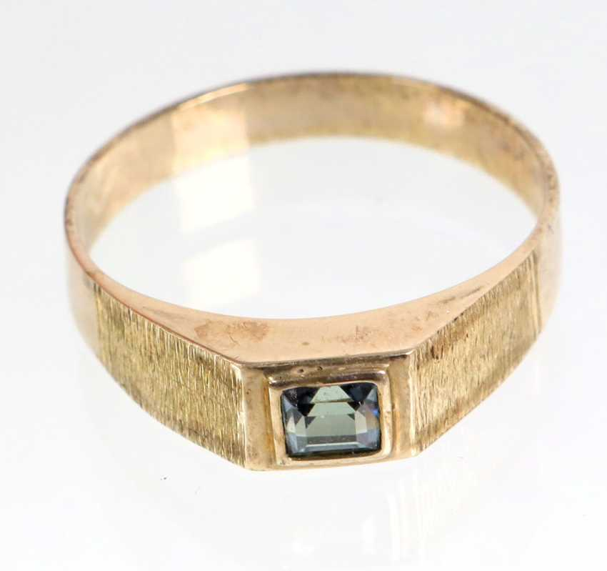 Ring with trim - yellow gold 333 - photo 1